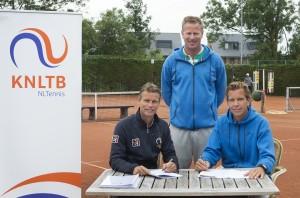 Ondertekening overeenkomst tussen de KNLTB en FOCUS tennis academy